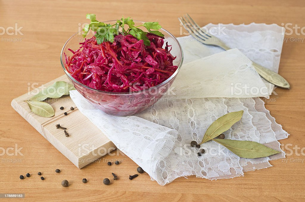 vegetable Salad in glass royalty-free stock photo