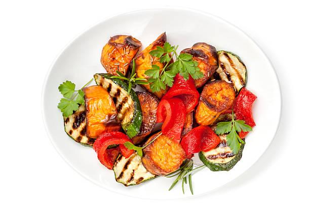 vegetable salad - geroosterd stockfoto's en -beelden