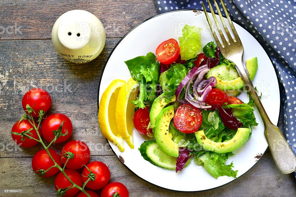 Vegetable salad. stock photo