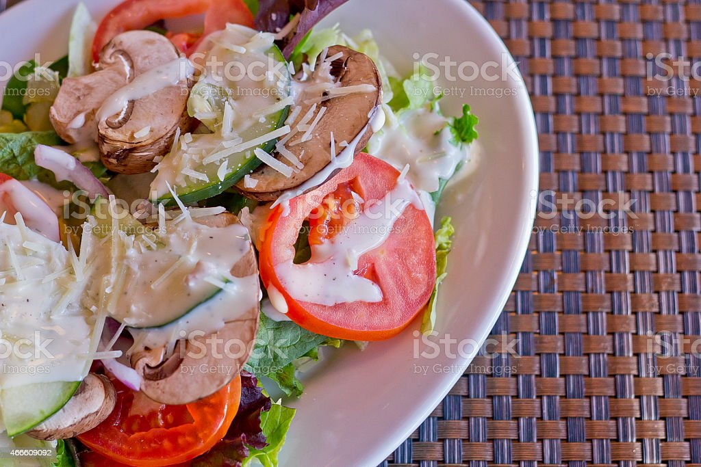 Vegetable Salad Ranch stock photo