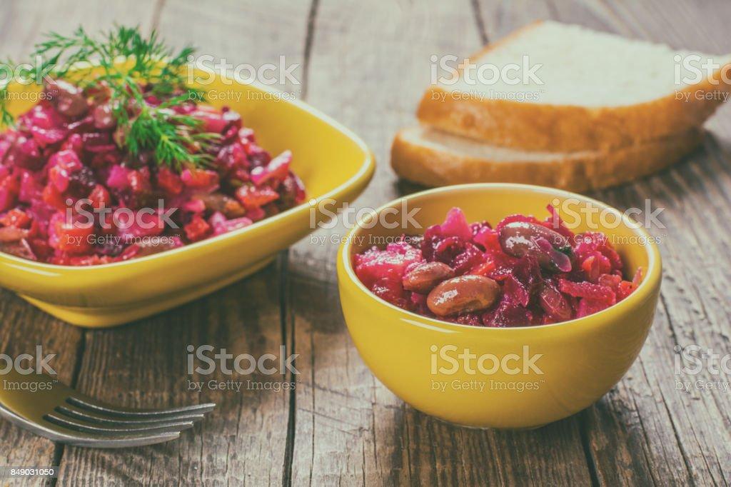 Vegetable salad, vinaigrette stock photo