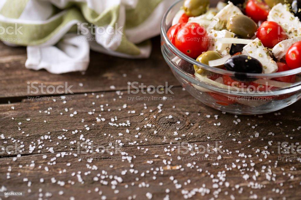vegetable salad with feta cheese zbiór zdjęć royalty-free