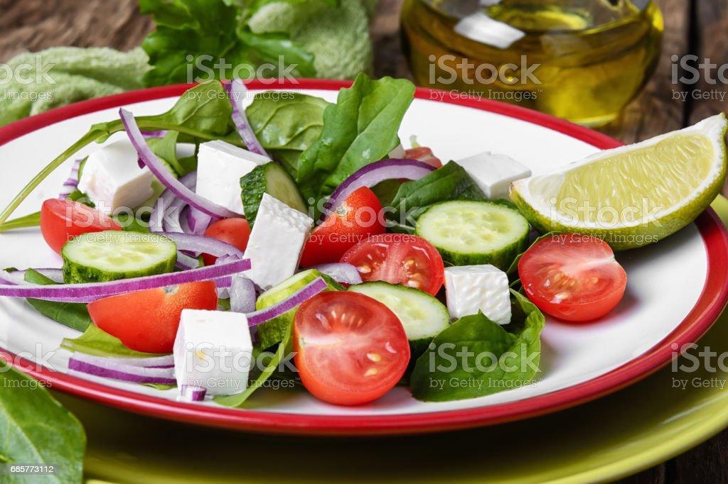 vegetable salad with olive oil photo libre de droits