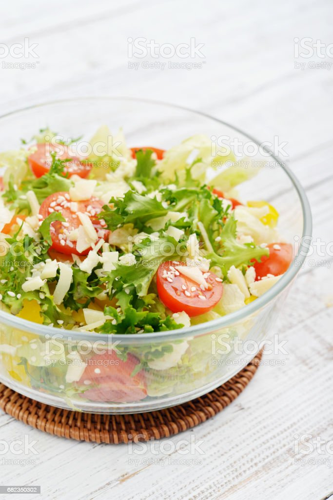 Vegetable Salad with parmesan foto stock royalty-free