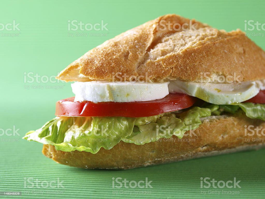 Vegetable sandwich. Bocadillo vegetal. royalty-free stock photo