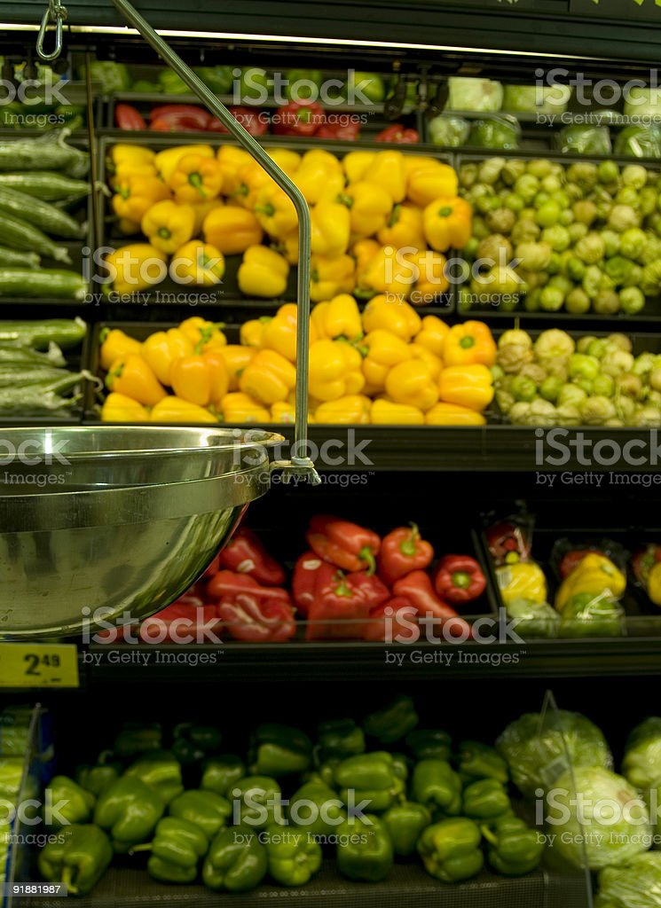 vegetable scale royalty-free stock photo