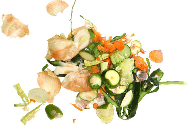 Vegetable Scraps Vegetable Scraps ready for composting. leftovers stock pictures, royalty-free photos & images