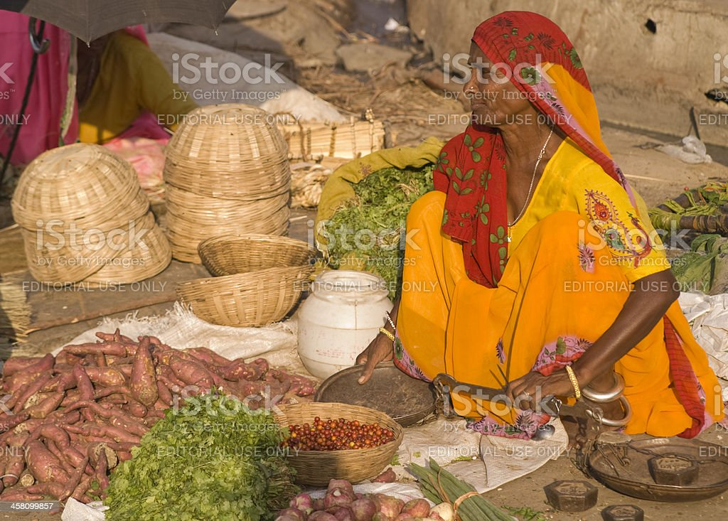 Vegetable Seller royalty-free stock photo