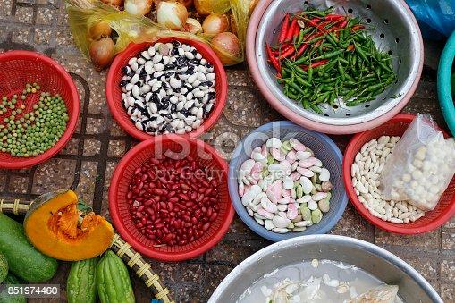 istock Vegetable selling in market 851974460