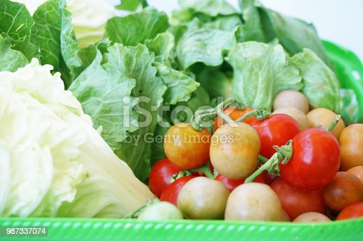 Background of vegatables set - diet food for health - chinese cabbage, greent vegetables and tomatoes
