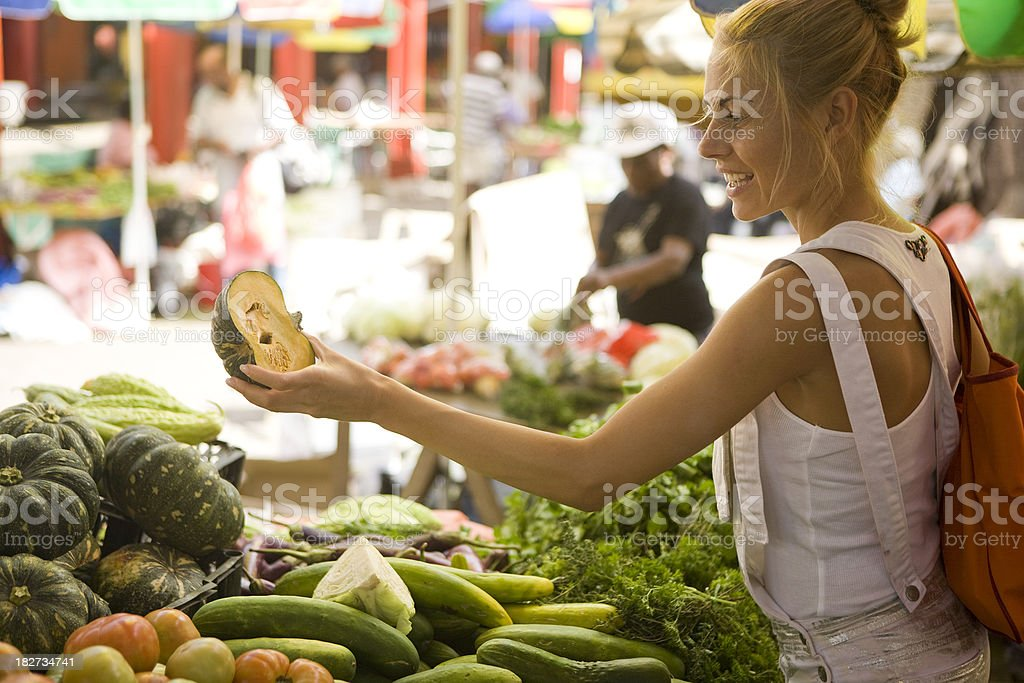 Vegetable shopping stock photo