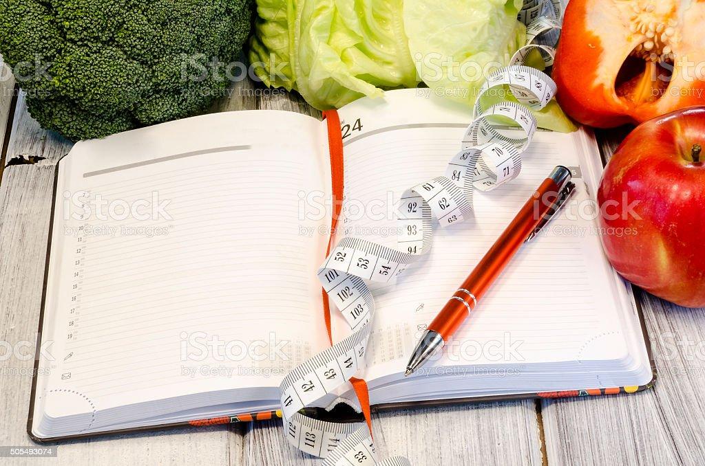 Gemüse figurschmeichelnde gesunden Lebensmitteln mit Vitaminen – Foto