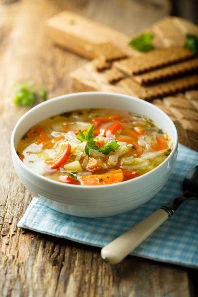 Vegetable soup Homemade vegetable soup vegetable soup stock pictures, royalty-free photos & images