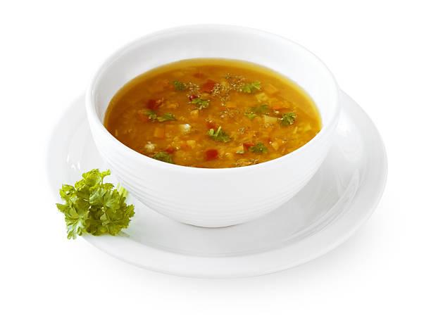 zuppa di verdure - minestrone foto e immagini stock