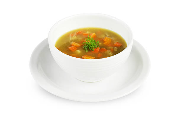 Vegetable soup Vegetable soup or minestrone soup. vegetable soup stock pictures, royalty-free photos & images