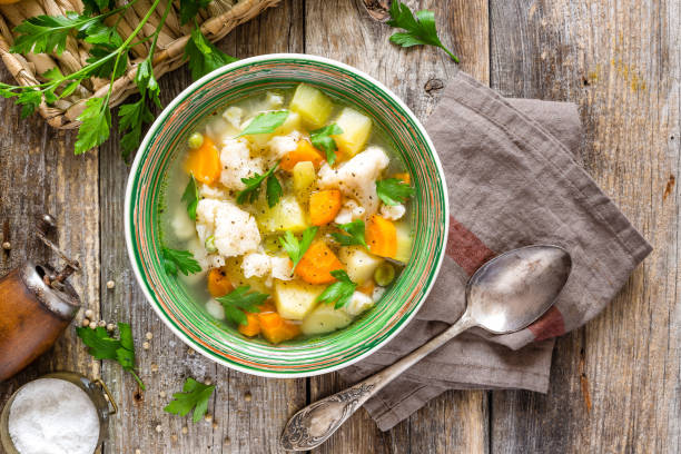 Vegetable soup Vegetable soup vegetable soup stock pictures, royalty-free photos & images