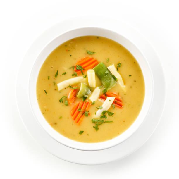 vegetable soup - zuppa foto e immagini stock