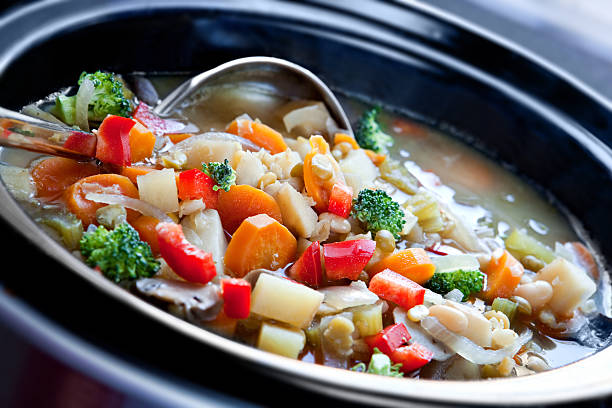 Vegetable Soup  vegetable soup stock pictures, royalty-free photos & images