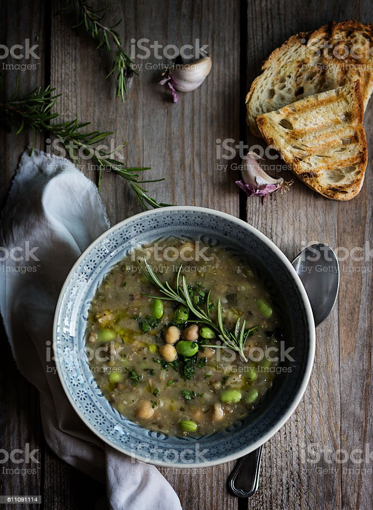 Vegetable soup_2 stock photo