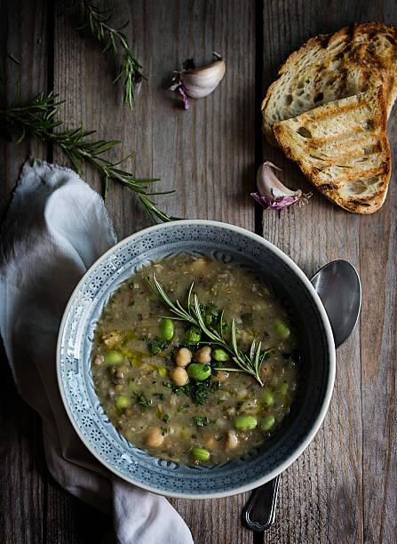 vegetable soup_2 - minestrone foto e immagini stock