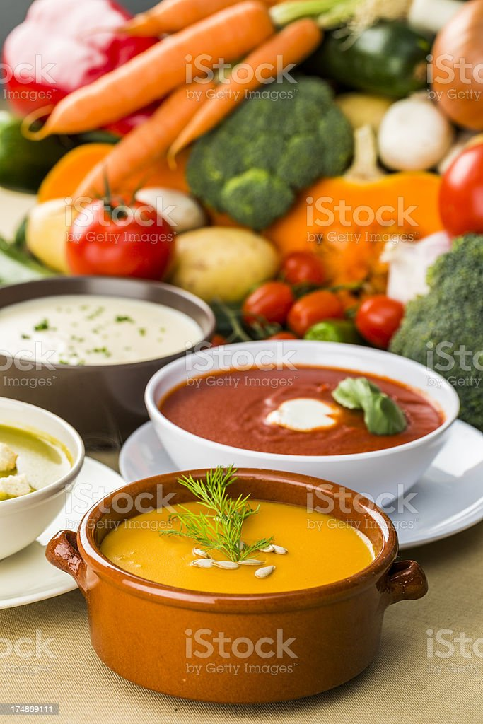 Vegetable soups stock photo