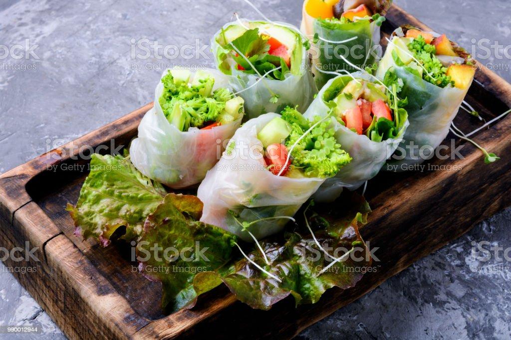 野菜の春巻き ストックフォト