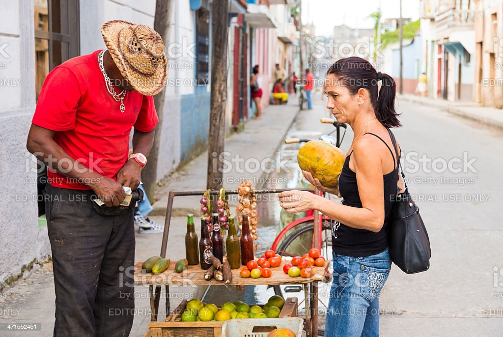 Vegetable stall in Cuba stock photo