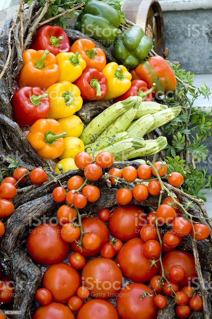 Vegetable stand in a Mediterranean town (2) royalty-free stock photo