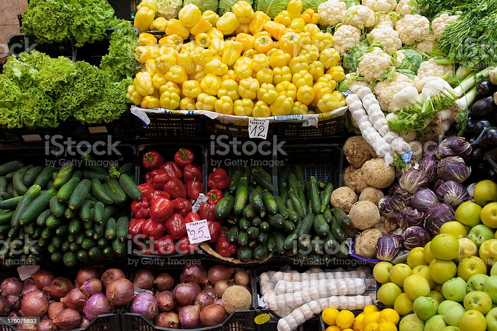 vegetable stand royalty-free stock photo
