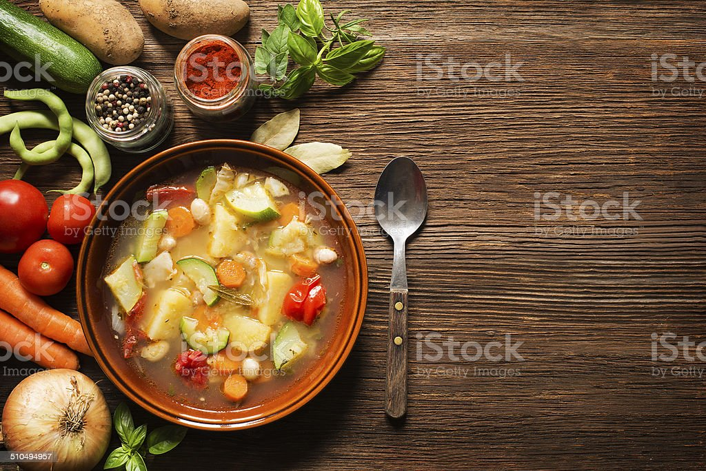 Vegetable stew stock photo