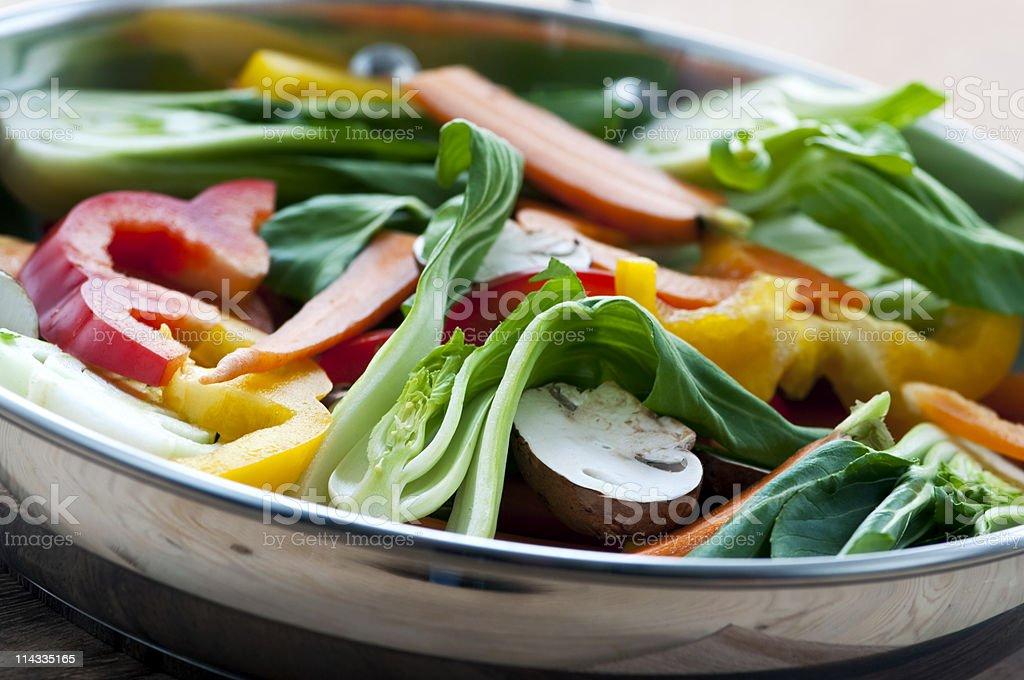 Vegetable stir fry royalty-free stock photo