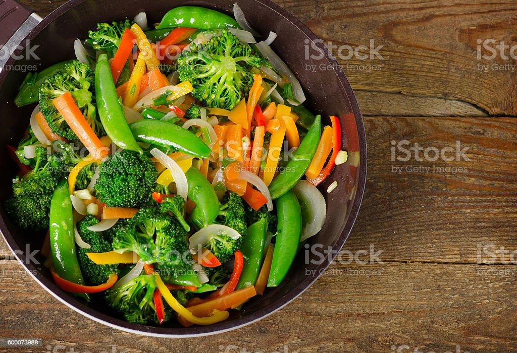 Vegetable stir fry. stock photo