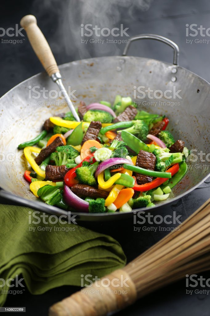 Vegetable Stir Fry with Beef royalty-free stock photo
