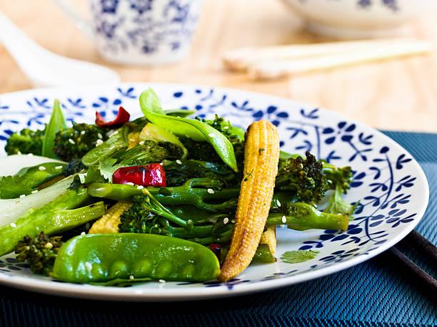Vegetable Stir-fried stock photo