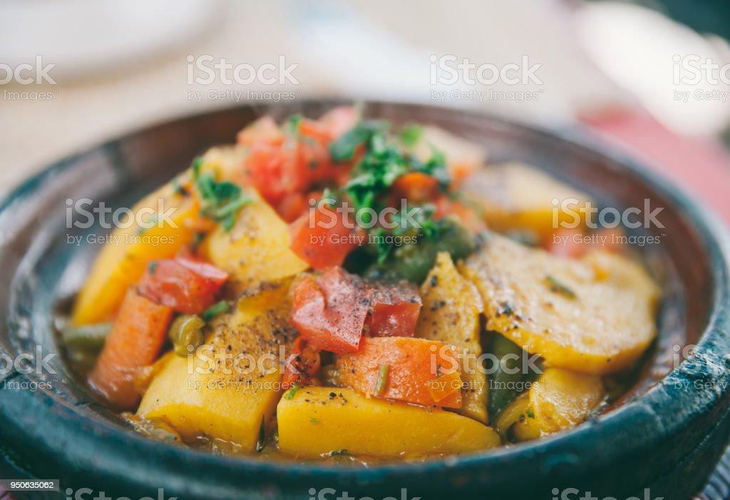 Vegetable tagine stock photo