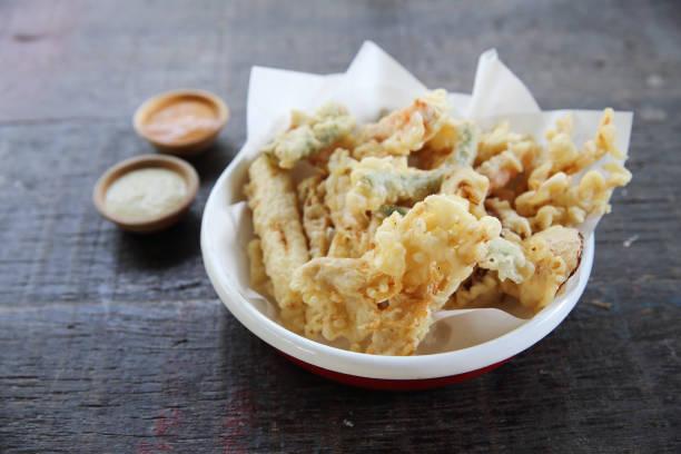 vegetable tempura - tempura imagens e fotografias de stock