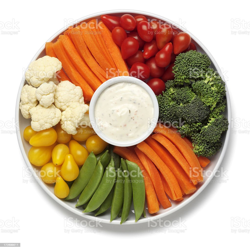 Vegetable Tray stock photo