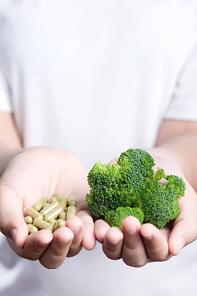 Gemüse mit Medizin. – Foto