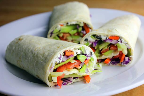 Vegetable Wraps stock photo