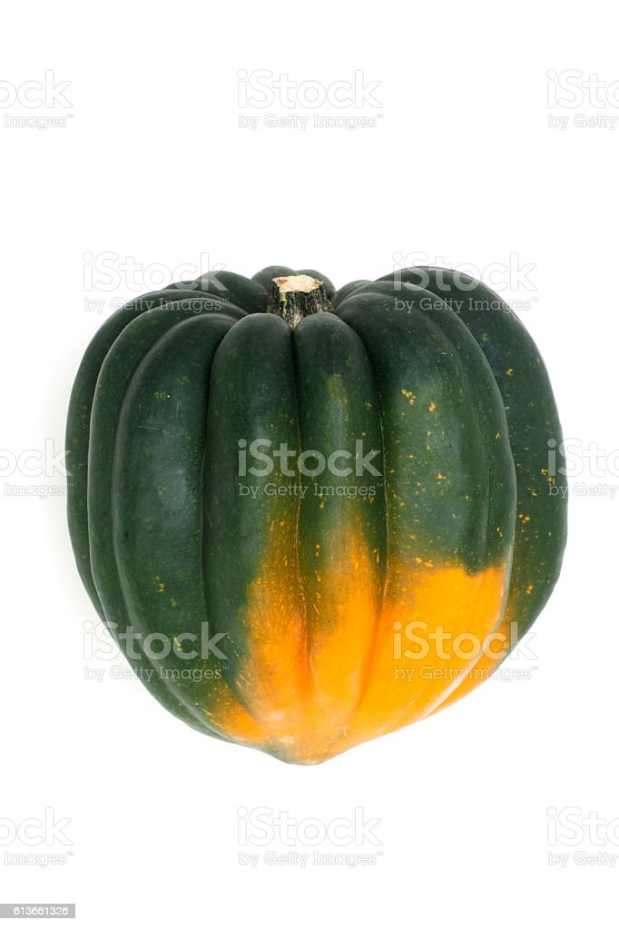 Vegetables - Acorn Squash Isolated on White stock photo