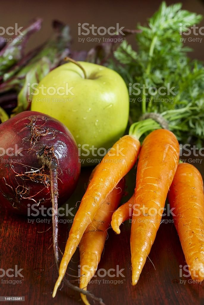 Vegetables and apple royalty-free stock photo