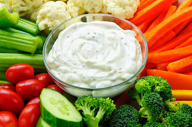 Vegetables and dip  ranch stock pictures, royalty-free photos & images