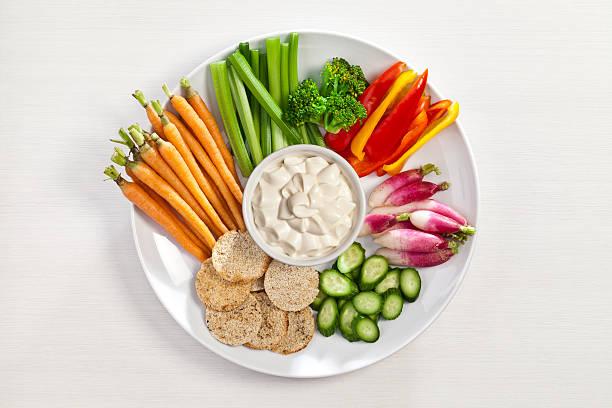 Gemüse und Runde Platte – Foto