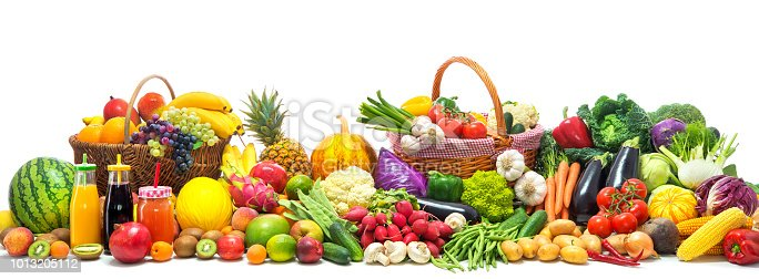 istock Vegetables and fruits background 1013205112