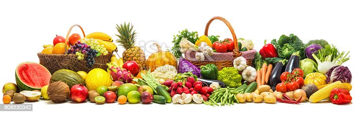 istock Vegetables and fruits background 808330342