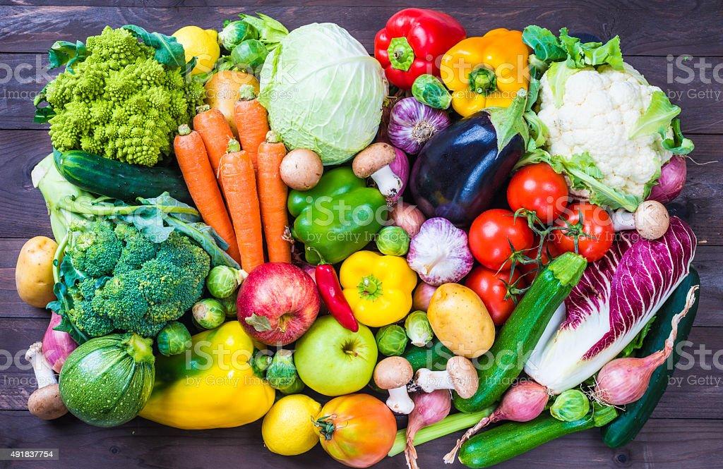 野菜や果物ます。 ストックフォト