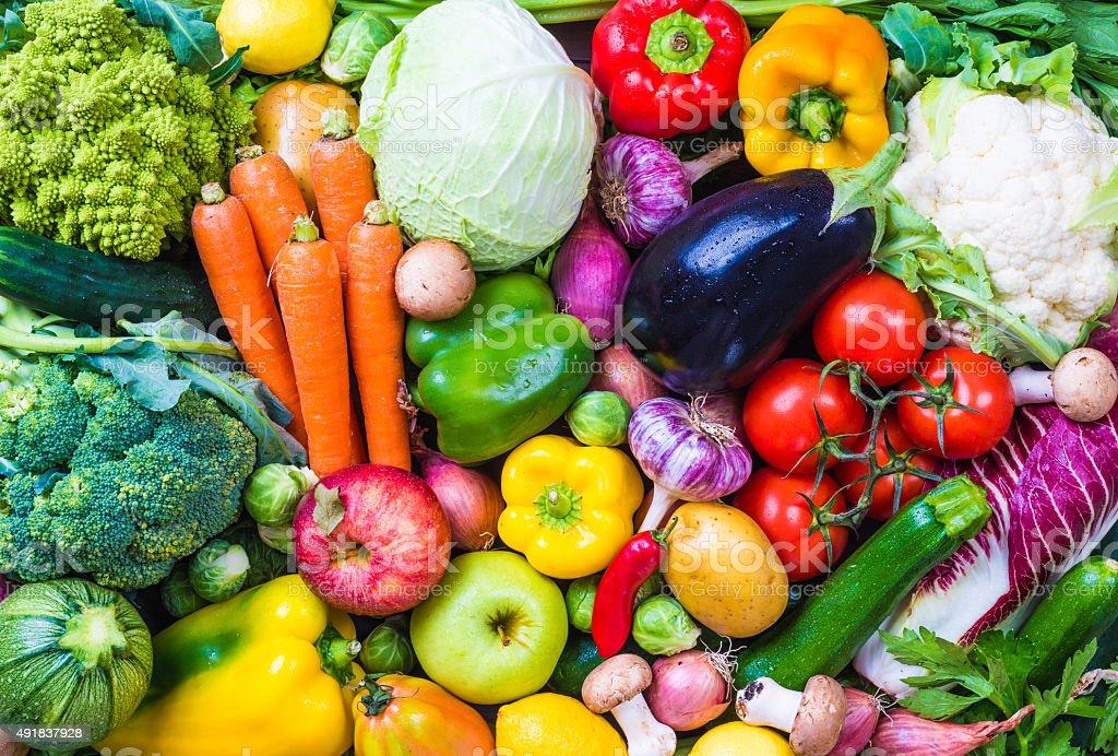Legumes e frutas. foto royalty-free