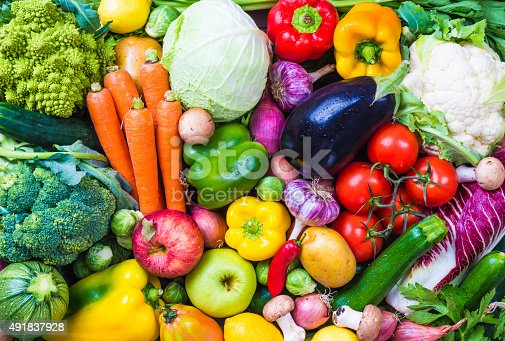 istock Vegetables and fruits. 491837928