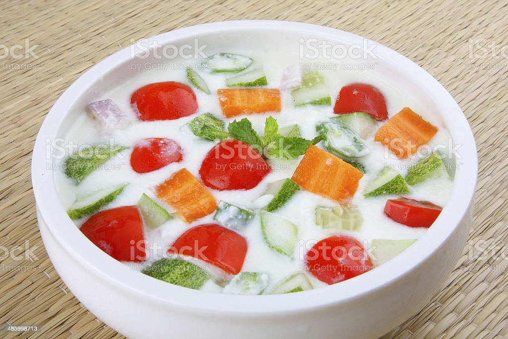 vegetables and greens salad stock photo