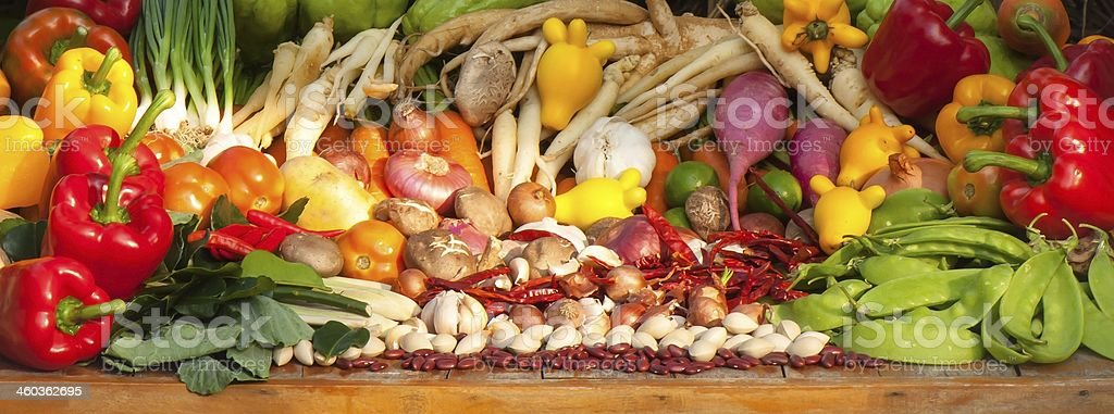 Vegetables and Herbs royalty-free stock photo